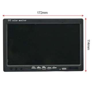 inch LCD Video Input Car RearView Front Monitor DVD HD wide Screen