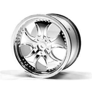 RD Logic Monster Truck Wheels, Oval, Chrome (2): WOL: Toys