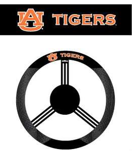 AUBURN TIGERS MESH SUEDE CAR AUTO STEERING WHEEL COVER