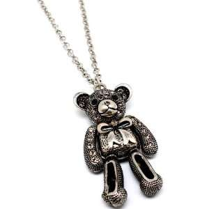 Best Friend Teddy Bear with Crystal accent Necklace