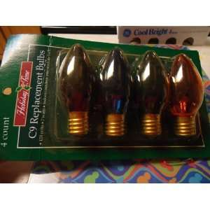 Holiday Time 4 CT C9 Replacement Christmas Light Bulbs   Transparent