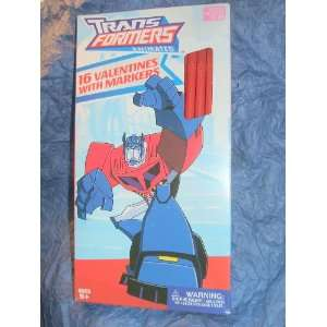 TransFormers Animated 16 Valentines with Markers Toys