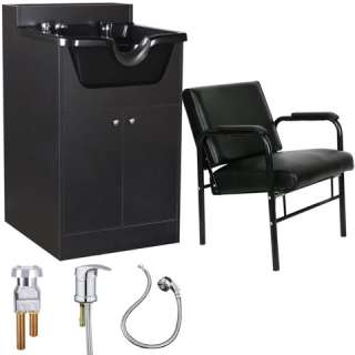 Beauty Salon Shampoo Bowl Cabinet Chair Package SU P5BK