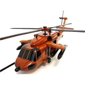 MH 60 DAP Spec Ops Black Hawk Wood Helicopter Model: Home