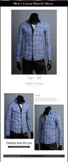 B07 65 Mens Dress Shirts Casual Dandy Style Slim Fitted korea shirts