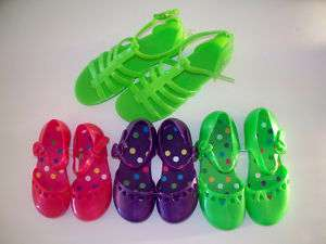 Girl Pink Purple Green Mary Jane Gladiater Jelly Shoe