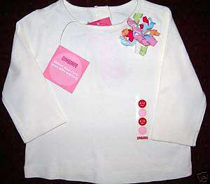 NWT Gymboree PETITE FLEUR CURLY LS Tee Shirt Top 6 12 M