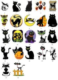 BLACK CAT CARTOON Return Address Labels Favor Tags