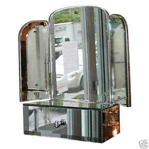 Art Deco Three Way Vanity Table Top Mirror
