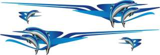 New item Dolphin boat decals fishing stickers graphics