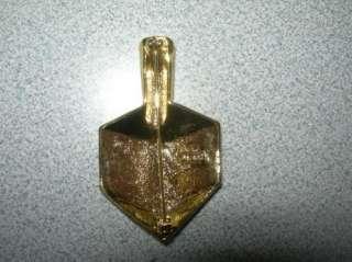 OAJC Gold Tone DREIDEL Pin Brooch