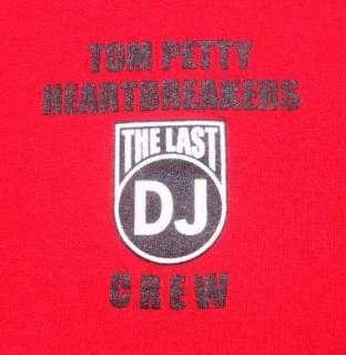 TOM PETTY last dj tour CREW heartbreakers XL T SHIRT