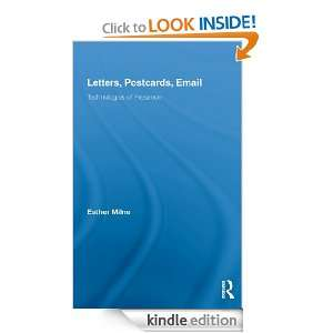 Letters, Postcards, Email: Technologies of Presence (Routledge