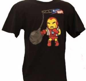 NEW TOKIDOKI TKDK Marvel IRON MAN Boxer Mens Black T Shirt