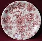 JOHNSON BROTHERS china ENGLISH CHIPPENDALE red/pink SNACK PLATE dinner