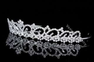 Bridal Wedding Prom Swarovski Crystal Crown Tiara 8476