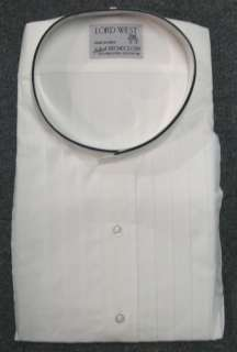 New White Lord West Banded Tuxedo Shirt M   34/35