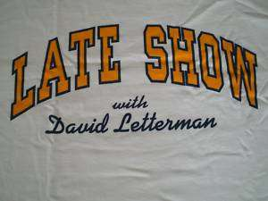 CBS TV LATE SHOW w/ DAVID LETTERMAN T Shirt, Large  NEW