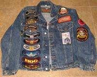 Harley Davidson Denim Jacket M Bangor Maine 24 Patches