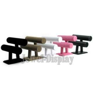 Black Velvet Double T Bar Bracelet Watch Display Stand