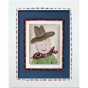 Doodlefish DB801 Western Cowboy Framed Giclee Wall Art Color: Green