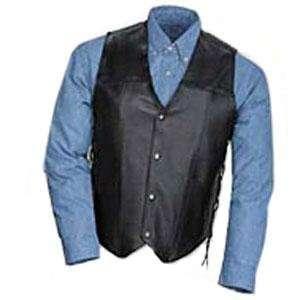 Tour Master Leather Vest with Laces   2X Large/Black