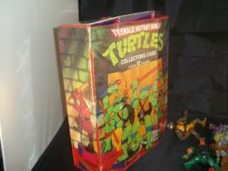 Lot of 7 Teenage Mutant Ninja Turtles 1988 Figures TMNT Some Weapons