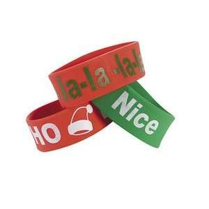 DELUXE CHRISTMAS HOLIDAY BIG BAND BRACELETS WITH HOLIDAY