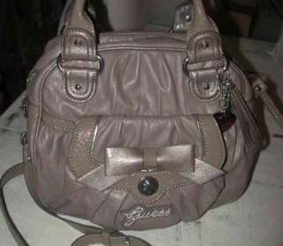 HUGE GUESS TAUPE CONVERTIBLE HAND CROSS BODY TRAVEL BAG NWT FREE