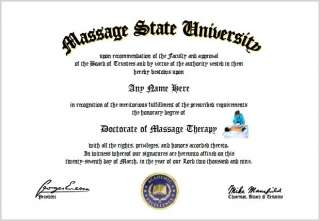 Massage Therapy Diploma   Massage Therapist Lover