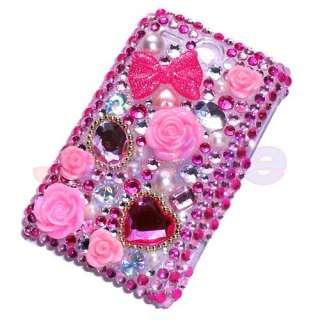 Cute 3D Flower Bling Diamond Case For HTC Wildfire G8