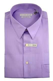 GEOFFREY BEENE Mens Cotton Dress Shirt Regular Fit Wrinkle Free Sateen