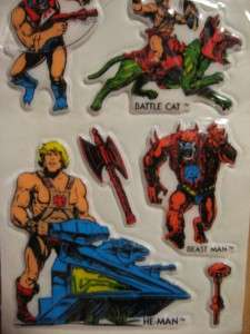 MOTU Master Of The Universe Vintage PUFFY STICKERS Lot Of 2 HE MAN