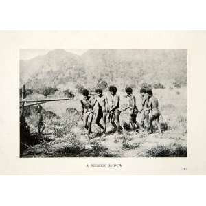 1909 Print Negrito Dance Mountains Philippines Aboriginal
