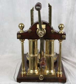 L108 ORIGINAL RARE BENJAMIN PIKE 1847 DOUBLE BARREL VACUUM PUMP MUSEUM