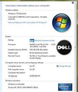 Dell Inspiron 11Z Netbook 11.6 LED light & thin 3LB Intel i3 330U win
