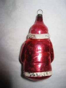 Glass Santa Father Christmas Holding Tree Figural Ornament