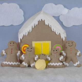 Gingerbread Cookie & Candy House Felt Play Food Pattern