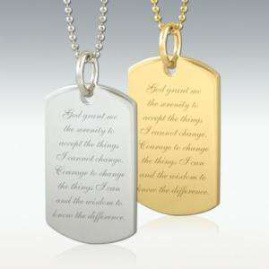 God Grant Me Dog Tag Engraved Pendant Silver or Gold