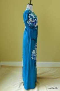 Cocktail Long Maxi Dress Floral Rose Casual Sexy Deep V Neck L50