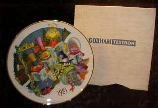 Gorham 1981 Sesame Street / Muppets Christmas plate MIB