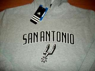 San Antonio Spurs Hoodie Large Embroidered Adidas NBA