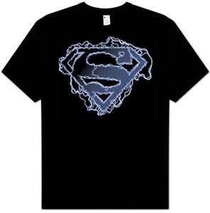 Superman ELECTRIC SUPES SHIELD Adult Tee Shirt T shirt