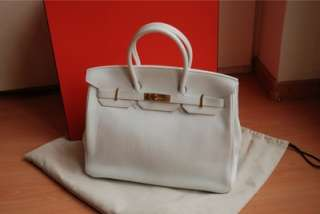 HERMES Birkin Bag 35 cm white with gold hardware NIB
