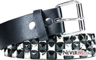 Pyramid Metal Studded Leather Belts Punk Rock Goth