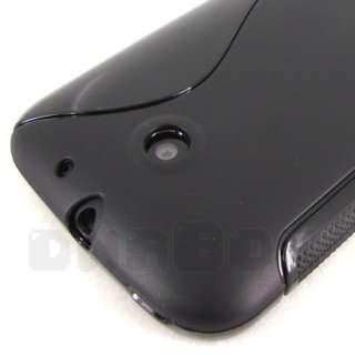 Black Soft Gel Case Cover Skin + Film For Huawei Ascend 2 M865 C8650