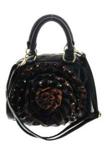 Steve Madden NEW Embellished Satchel Medium Handbag Black Bag