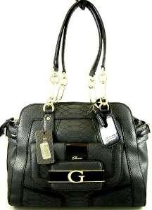 NWT GUESS FALLON $128 BLACK BAG PURSE SHOPPER