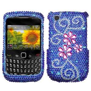 Flower Rhinestone Bling Hard Case Cover Blackberry Curve 9300 9330 3G