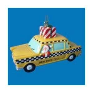 3.5 New York City Taxi Cab with Santa Claus Christmas